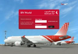 Bahrain Air - Login Page