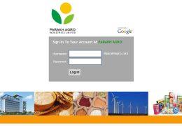 Parakh Agro - Login Page