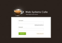 WebsystemCafe - Login Page