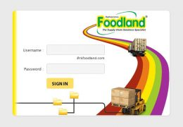 RK Foodland - Login Page